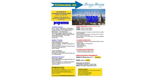 Ciclovacanze 2018 | Torino